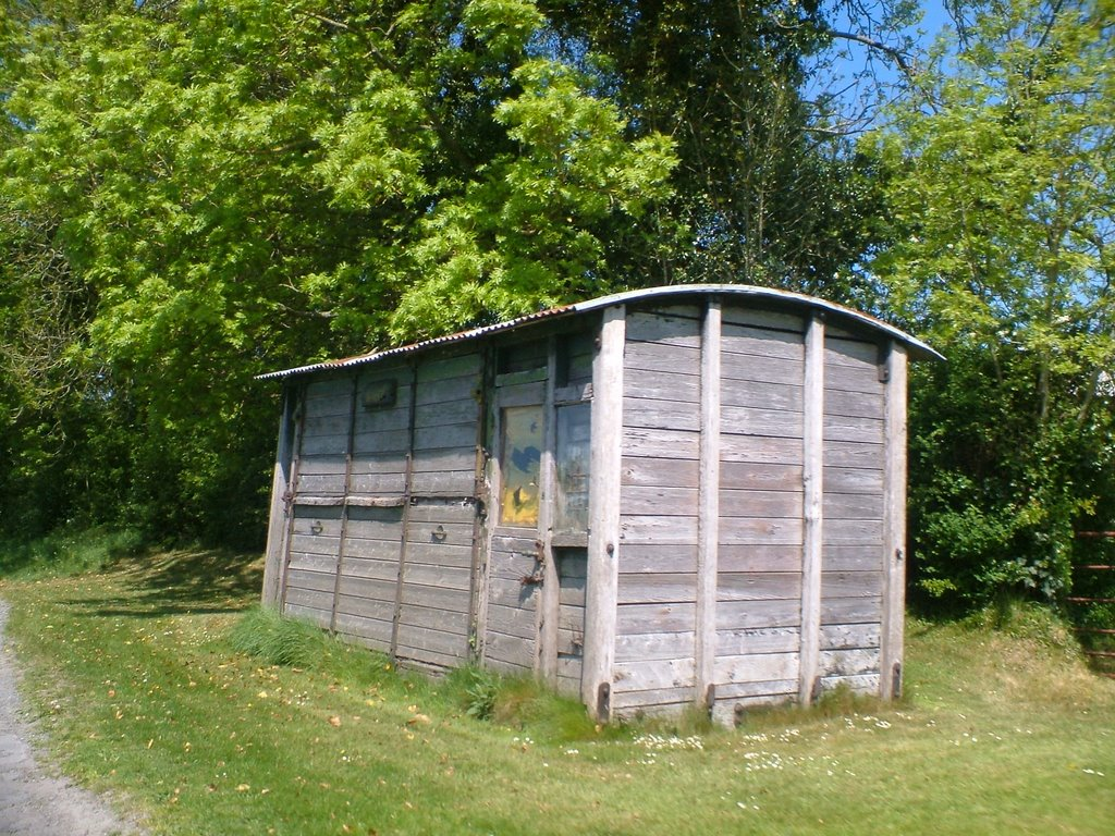 Old rolling stock used as shed