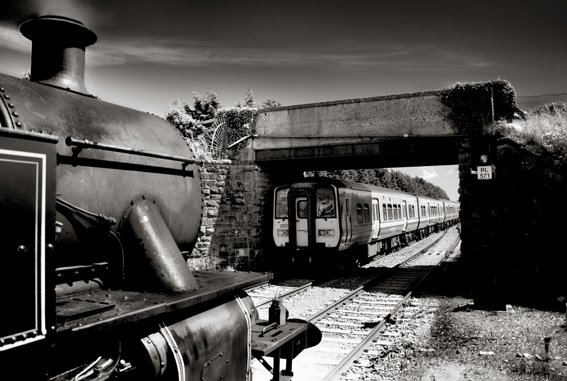 Steam Meets Diesel, Rosslare Strand Station, Co Wexford, Ireland.