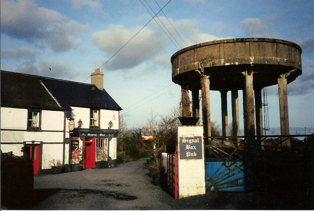 Ballybrophy Signal Box Pub & cement RR water tank