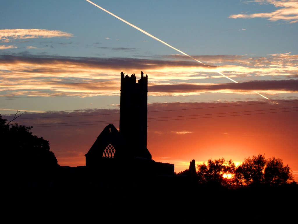 Abbey at Sunset - Claregalway