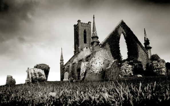 Abandoned Church, Ballynafagh, Co Kildare, Ireland.