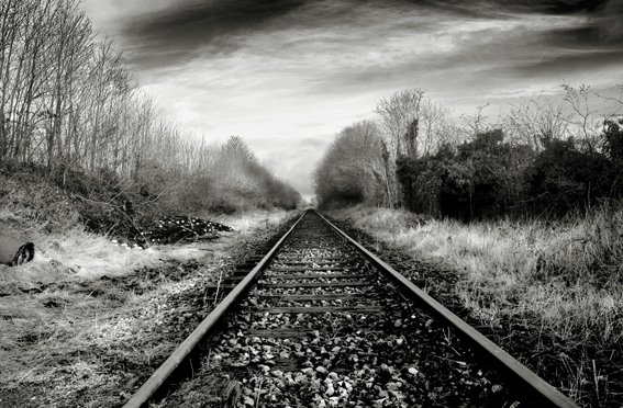 Abandoned Section of the Former Dublin - Galway Mainline Railway, Co Westmeath, Ireland.