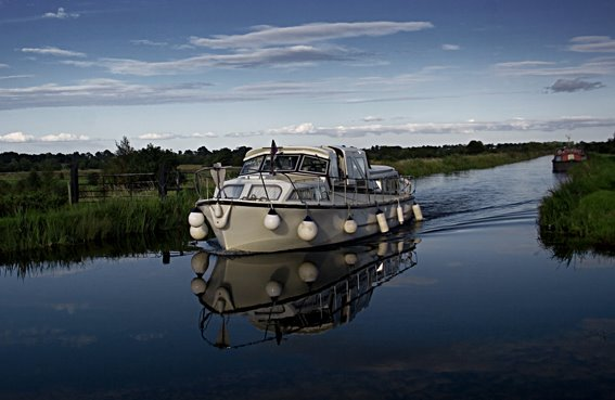 Evening Cruise, The Grand Canal, Robertstown, Ireland.
