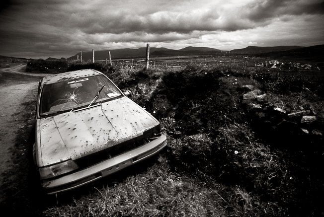 Abandoned Car, Co Kerry, Ireland.