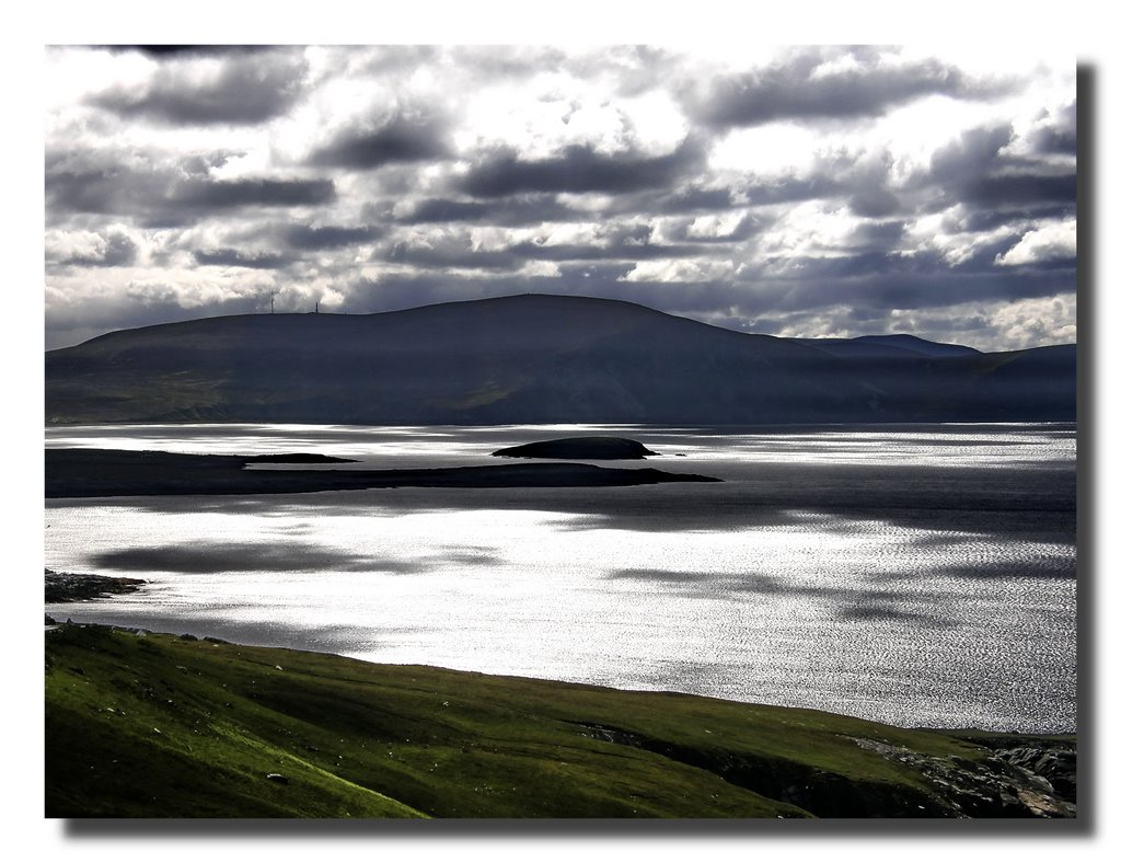Achill Island - view from Keel Bay to Menaun Hights