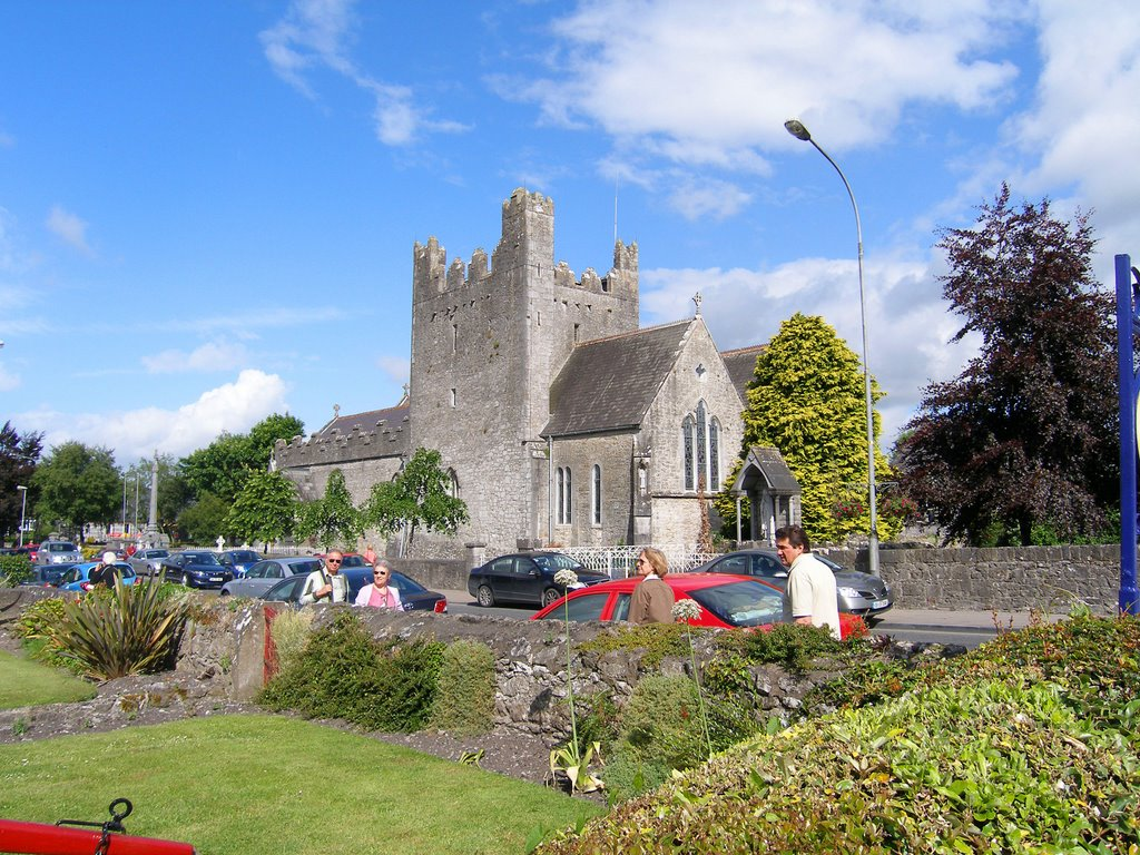Adare church from the corner of The Ave.