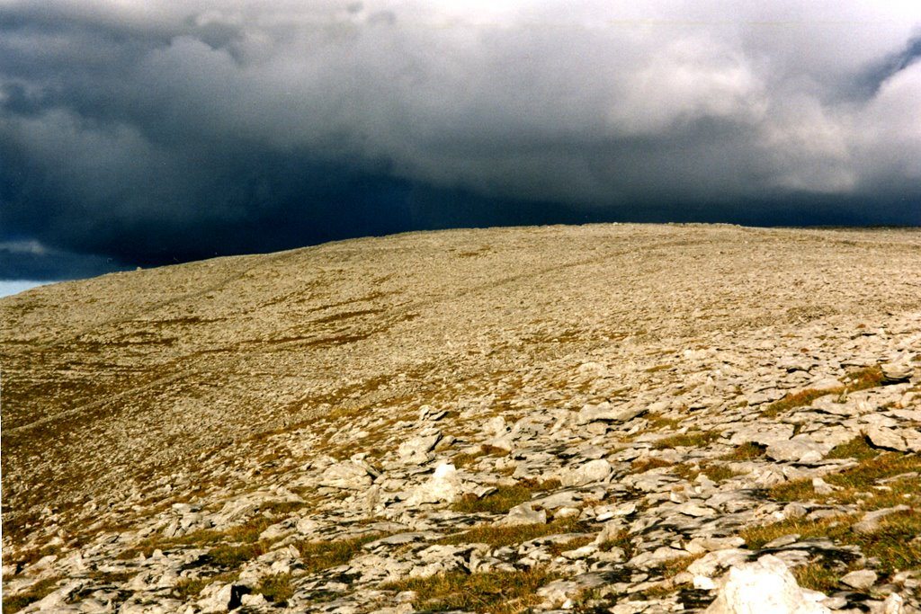 Stormy skies over the Burren Co. Clare