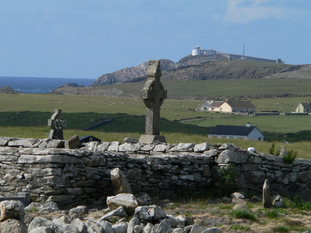 Eagle Island from Termoncarragh Graveyard