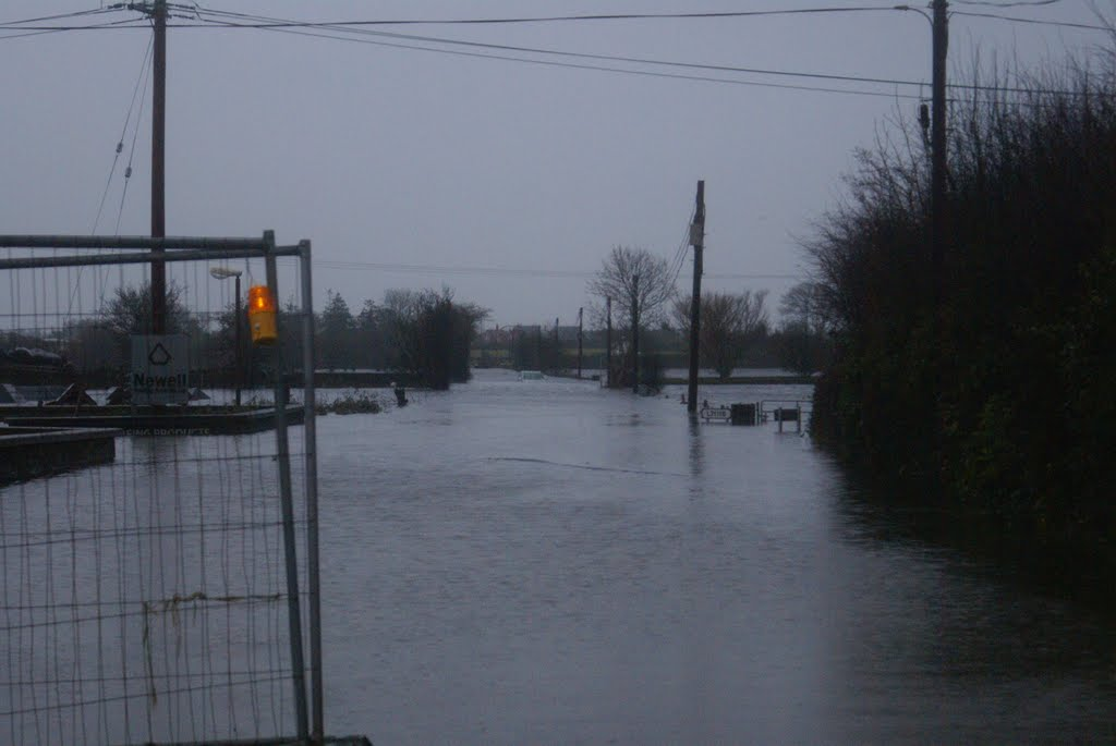 Dead End road flooded