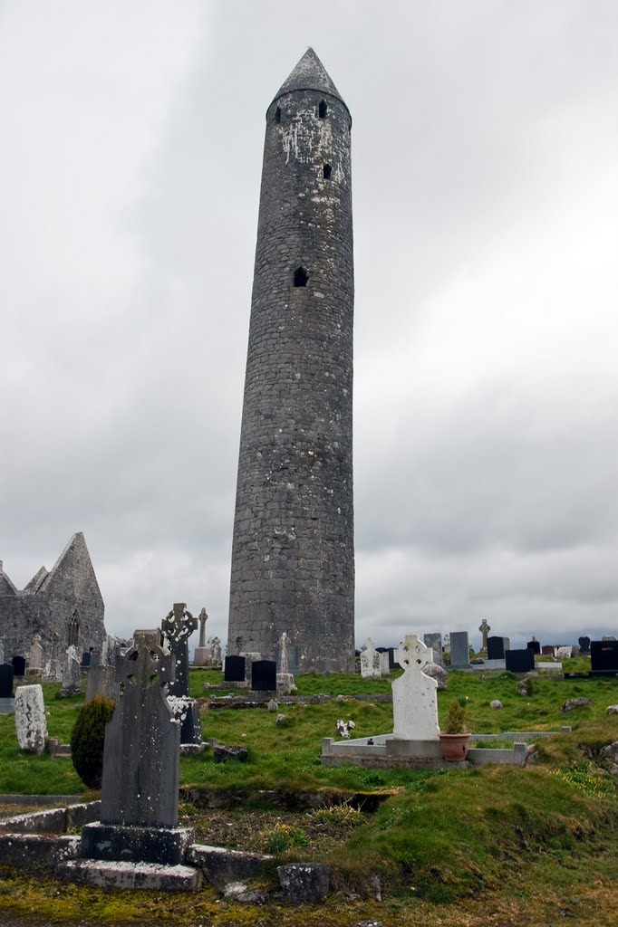 Easter 2010: The Leaning Tower of Kilmacduagh, near Newtown, Co. Galway, Ireland