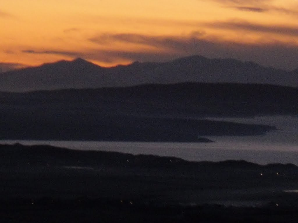 View of Dingle Mountains from Knockanore Mountain
