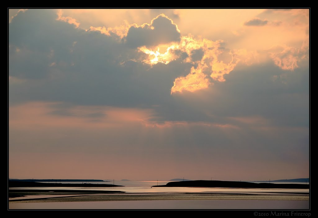 Abendstimmung - Evening Mood Blacksod Bay - Cuan an Fhoid Duibn, Ireland County Mayo