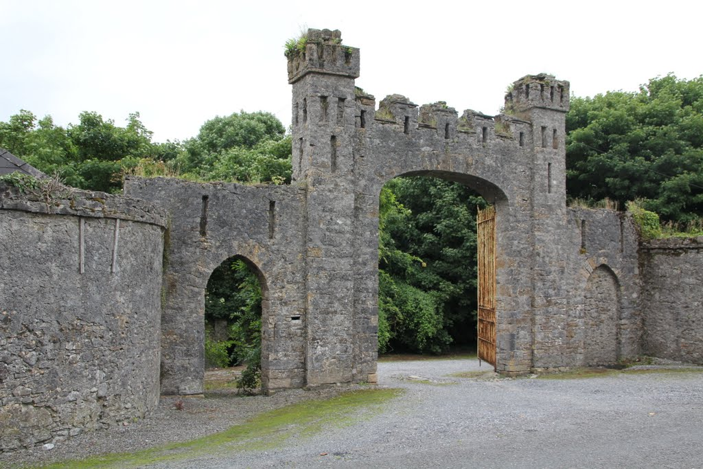 Gate, Leap Castle, Co. Offaly, Ireland