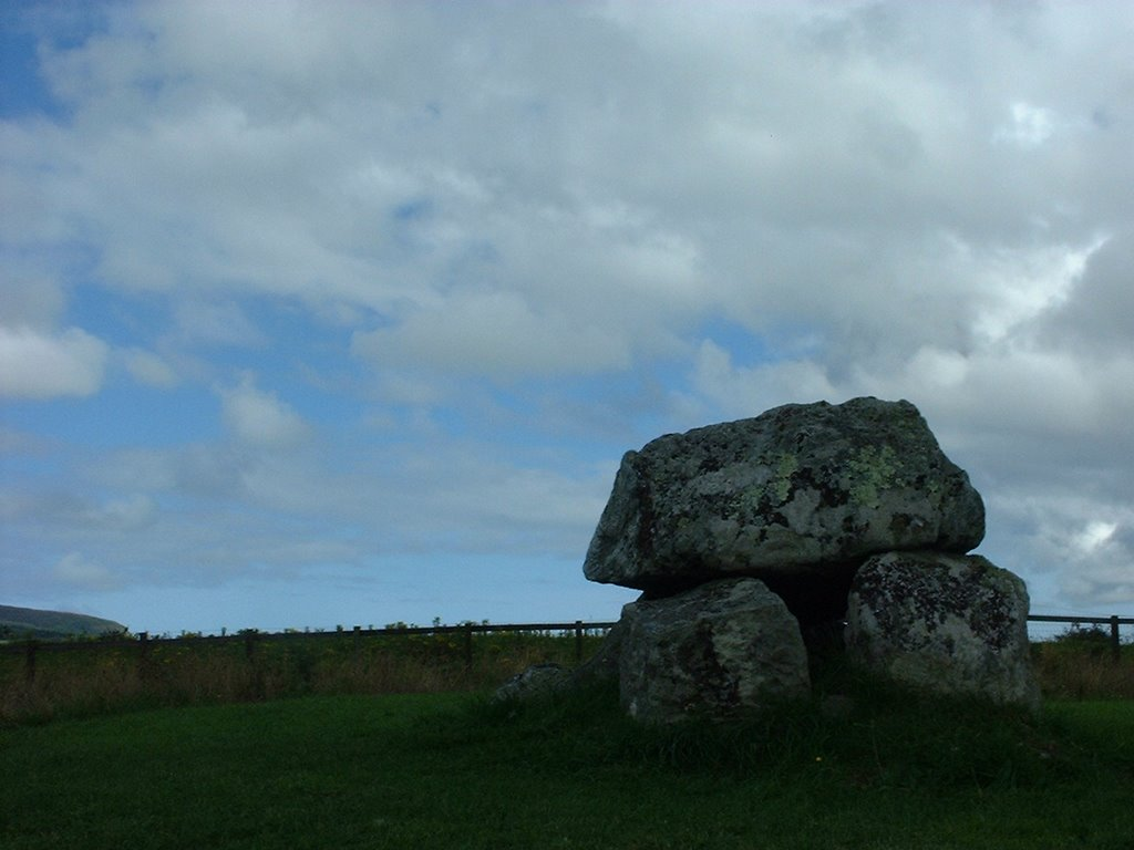 Dolmen at Carrowmore Megalithic Cemetery