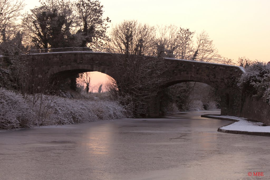Frozen Royal Canal between Leixlip and Maynooth