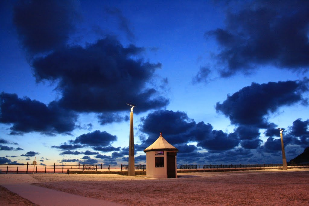 Kiosk and Clouds