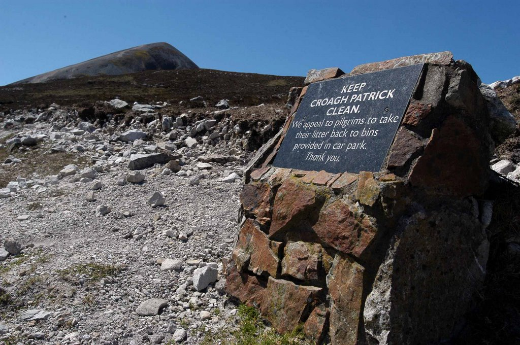 Croagh Patrick - nearly on top
