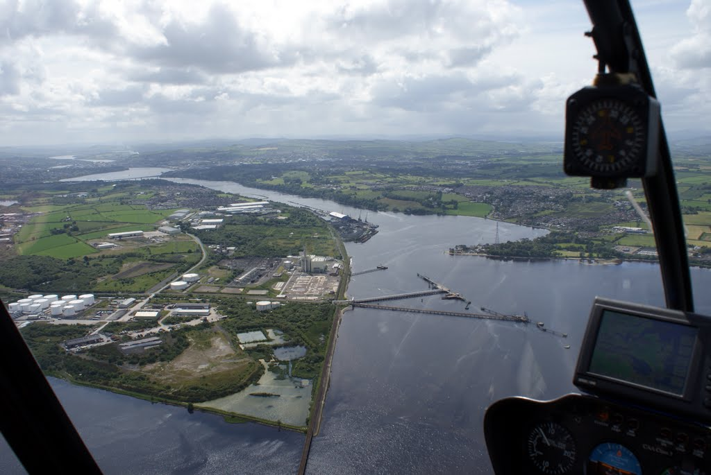 Heliicopter flight over Derry