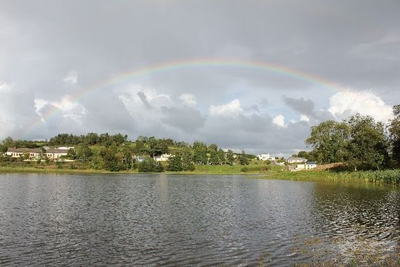 Rainbow over Carrigallen Town Lake