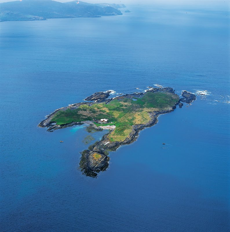 Carbery Island, Ireland - Photo from helicopter
