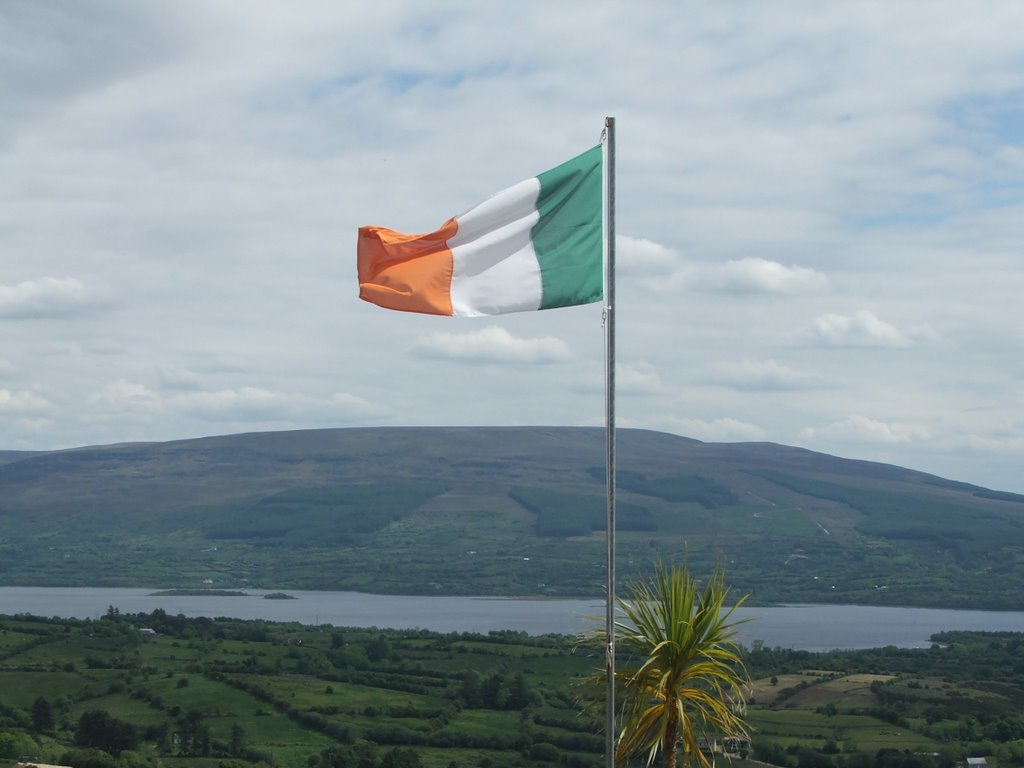 irish flag at Arigna Mine