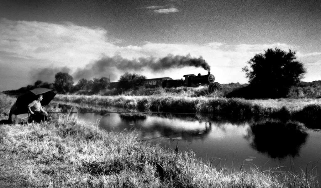 Steam Train by the Royal Canal, Kilcock, Co Kildare, Ireland
